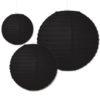 zwarte papieren lampionnen verkrijgbaar in diverse diameters