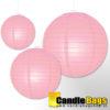 roze lampion 20cm