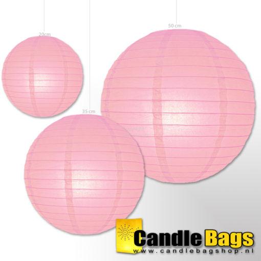 roze lampion van 35cm
