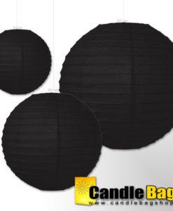 lampion zwart 35cm