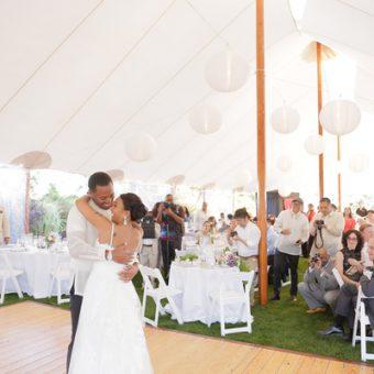 huwelijk witte lampionnen