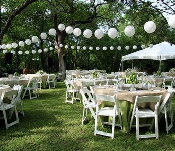 Bruiloft decoraties met lampionnen doe hier inspiratie op - Decoratie witte lounge ...