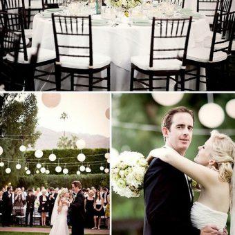 trouwen met witte lampionnen