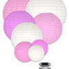 mooi lampionnen pakket met roze lampionnnen