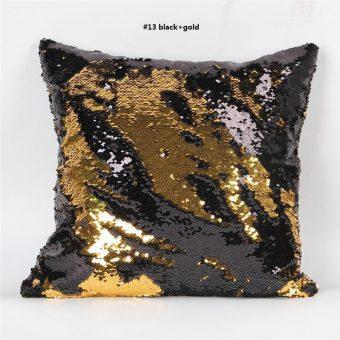 Mermaid kussen in de kleur zwart goud
