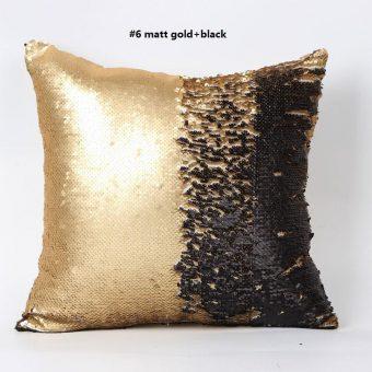 mermaid kussen in de kleur mat goud zwart