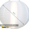 nylon lampion 80cm wit