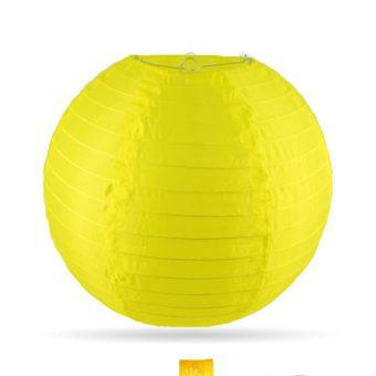 gele nylon lampion 35cm