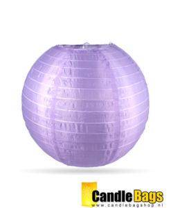 lilla nylon lampion voor buiten