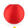 rode nylon lampion van 35cm