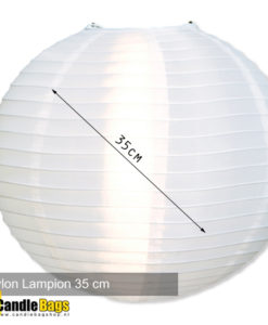 Lampion nylon 35cm wit
