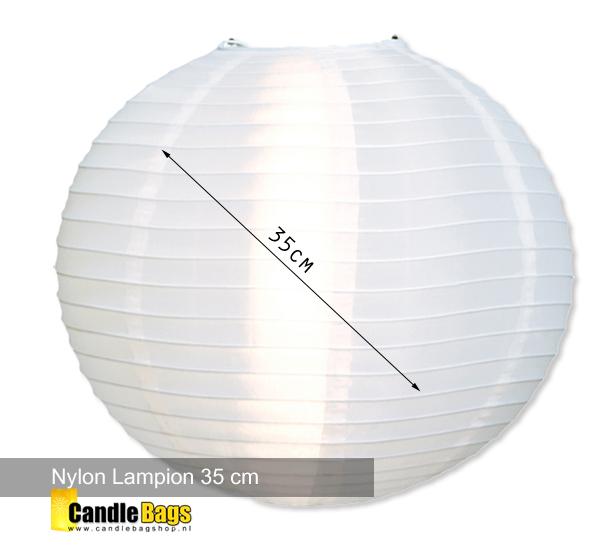 Lampion nylon 35cm wit