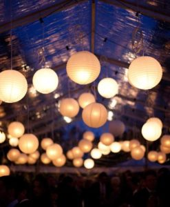 nylon lampionnen verlicht