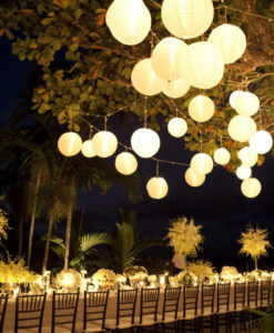 nylon lampionnen decoratie tafel
