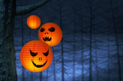 oranje lampionnen halloween