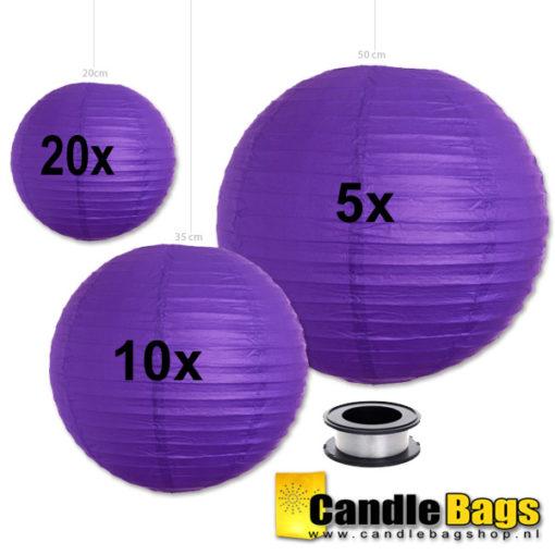 paarse lampionnen voordeelpakket