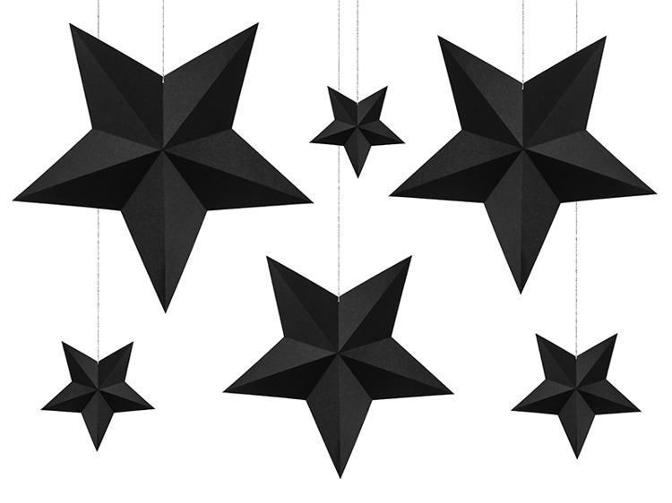 unieke zwarte kerst sterren