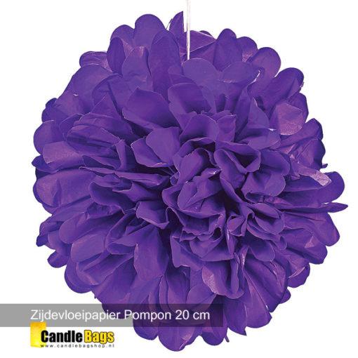 paarse pompon van 20cm