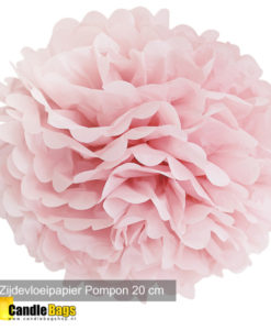 pompon roze 20cm