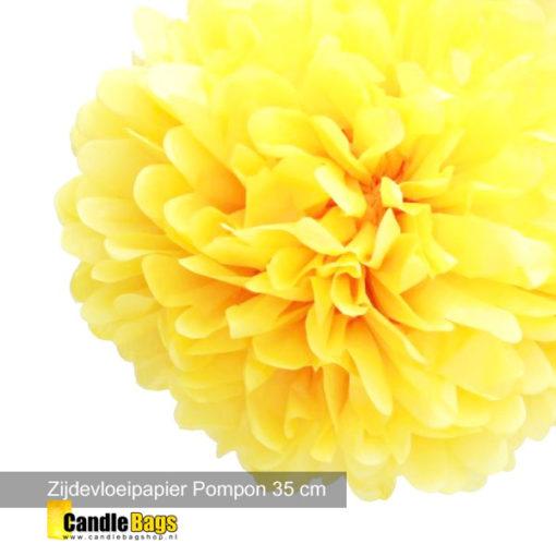 pompon geel 35 cm