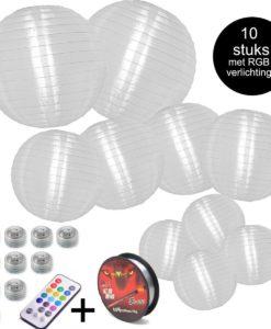 Nylon lampionnen pakket XS met rgb verlichting op afstandsbediening