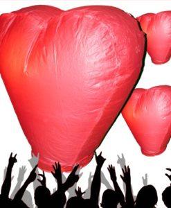 Rode hart wensballon