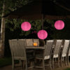 Roze solar lampion nylon