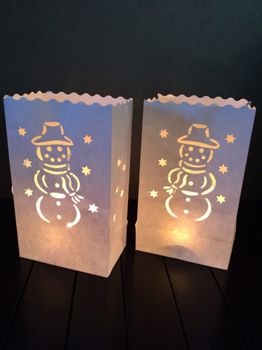candle bag met sneeuwpop midi