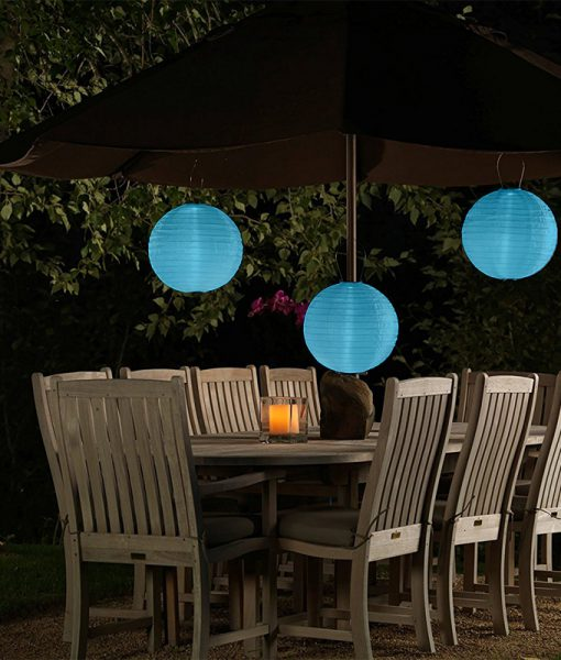 blauwe solar lampion ook voor lampionnen op zonne energie. Black Bedroom Furniture Sets. Home Design Ideas