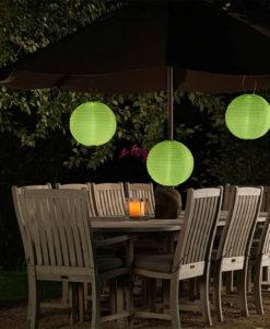 groene lampion zonne-energie