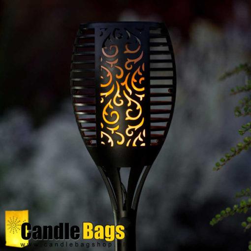 Vuurlamp in solar tuinfakkel