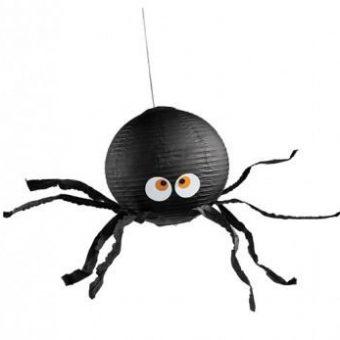 zwarte lampion als spin