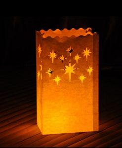 mooie candlebag met sterrenmotief