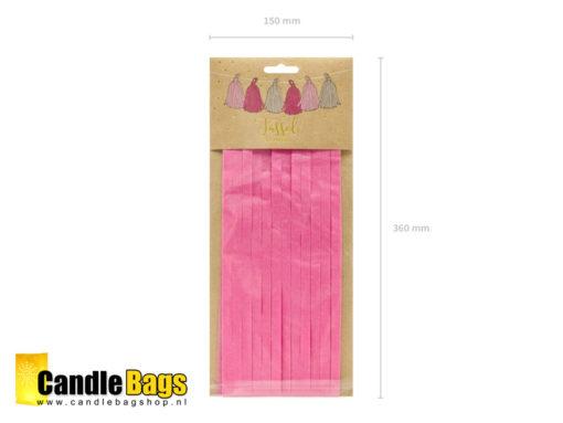 Verpakking voorzijde tassel roze