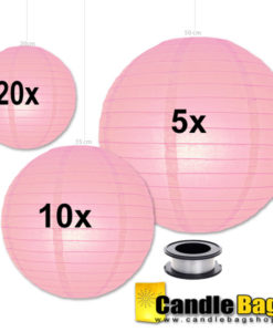 roze lampionnen voordeelpakket