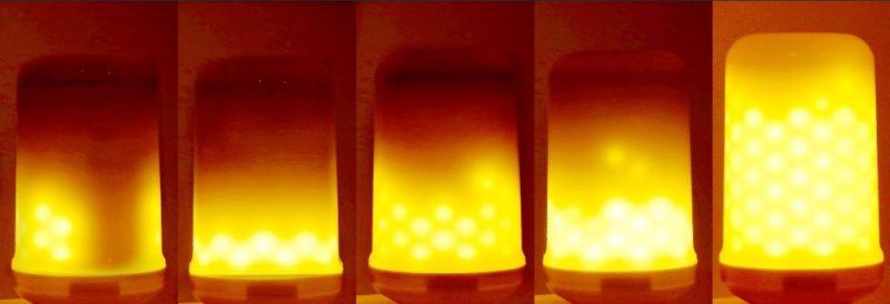 vuurlamp de lamp met vuursimulatie
