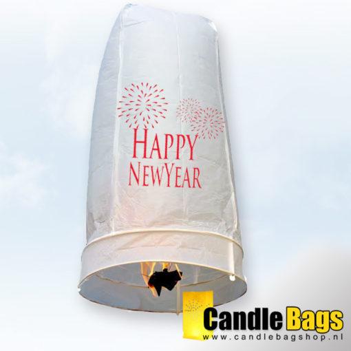 mooie wensballon met happy new year opdruk