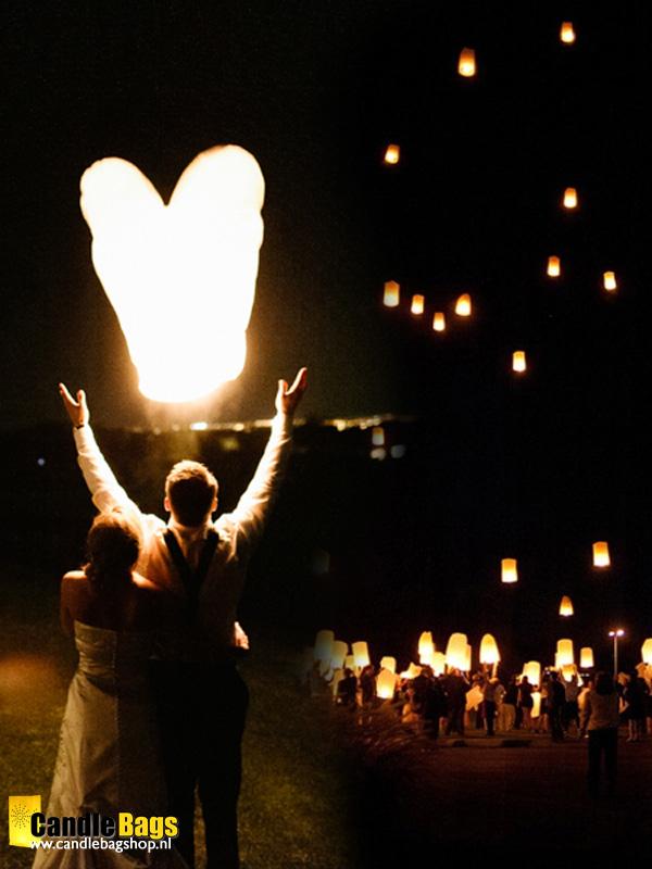 wensballonnen huwelijk , trouwfeest