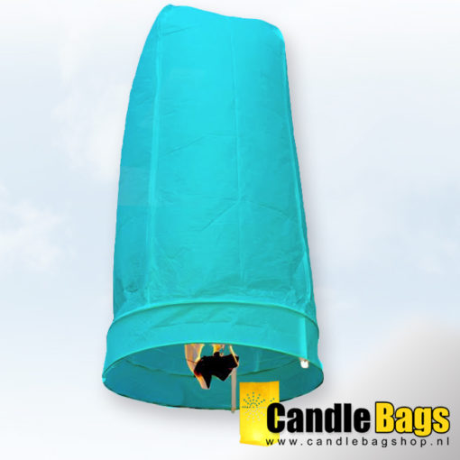 lichtblauwe wensballon candlebagshop