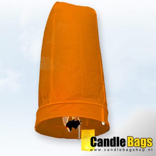 wensballon oranje candlebagshop.nl