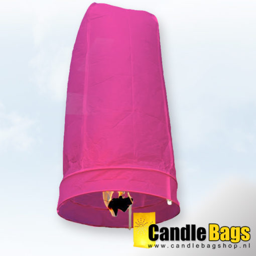 Roze wensballon candlebagshop.nl