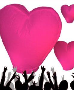 roze hart wensballon