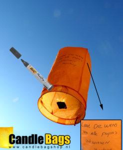 wensballon voorzien van wens
