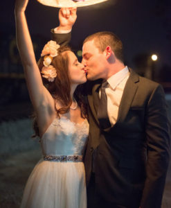 wensballonnen oplaten tijdens het huwelijk