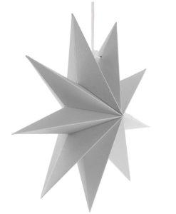 witte kerst ster papier