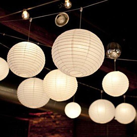 lampion wit 35 cm candlebagshop. Black Bedroom Furniture Sets. Home Design Ideas