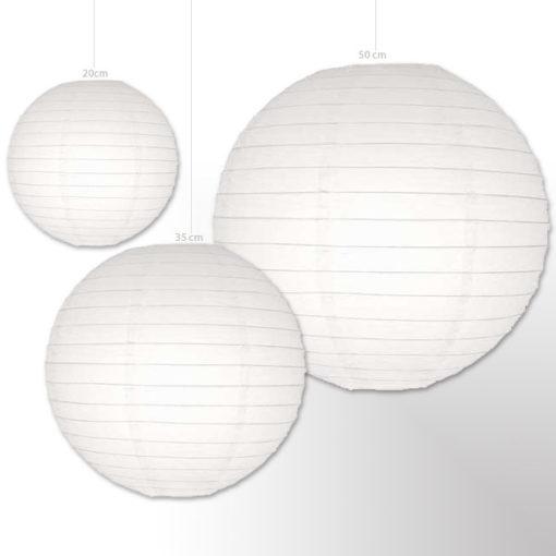 witte lampion 50 cm papier