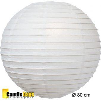 witte lampion met doorsnede van 80cm