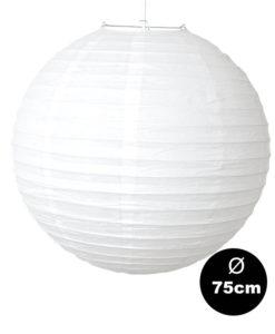 witte lampion van 75cm een echte enorme witte lampion van topkwaliteit
