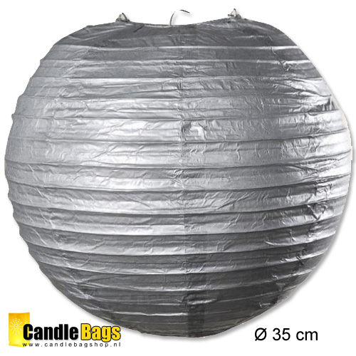 zilveren lampion met doorsnede van 35 cm
